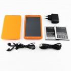 "U89 MTK6589 quad-core android 4.2.1 WCDMA bar téléphone w / 6.0"" capacitif, fm, wi-fi et GPS - orange"