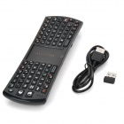 RII Mini 2.4GHz Wireless Air Mouse 78-Key Keyboard Combo w/ Touch Pad - Black