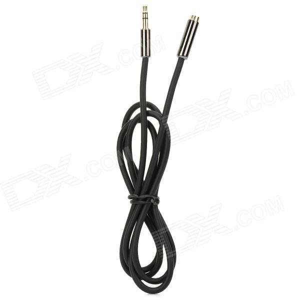 3.5mm Female to Male Audio Extender Cable - Black (1m) 6 35mm male to 3 5mm female stereo audio adapter for speaker microphone golden black 2 pcs