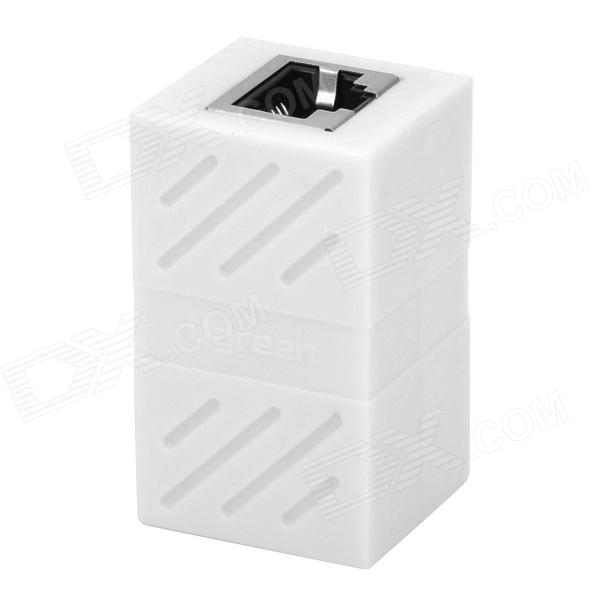 RJ45 Female to Female Networking Cable Extender Adapter - White db9 female to rj45 female modular adapter