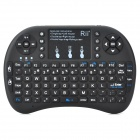 Rii i8 (Russian) Mini Wireless 92-Key Keyboard Touchpad w/ USB Receiver - Black