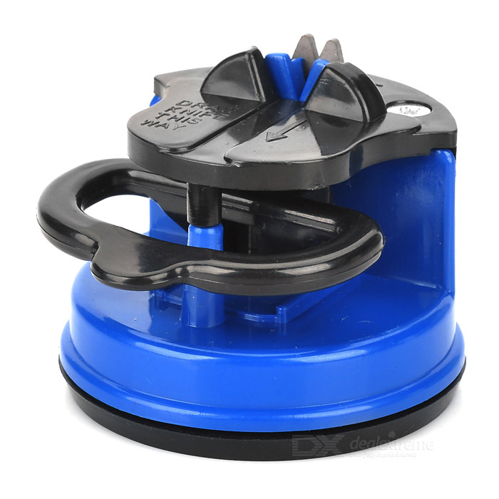 Kitchen Knife Sharpener - Blue + BlackCeramic Knife<br>ModelYUForm  ColorBlackMaterialABSQuantity1Packing List1 x Knife Sharpener<br>