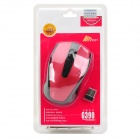 Motospeed G390 Stylish 2.4GHz 1000DPI Wireless Optical Mouse - Red + Black (2 x AAA)