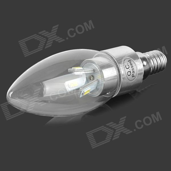 E14 3W 210lm 6500K 6-SMD-5730 White Light LED Candle Lamp w/ IC Chip (85-265V)