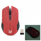 2.4GHz Wireless Optical 1600dpi Mouse - Red + Black (2 x AAA)