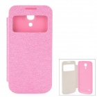 Ultra-Slim Flip-Open Leather Case for Samsung Galaxy S4 Mini / i9190 - Pink