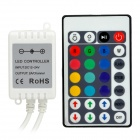 IR 28-Key RGB Light LED Remote Controller - White (12V~24V)