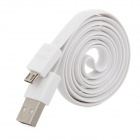 EBAI USB Male to Micro USB Flat Data Sync / Charging Cable - White (80cm)
