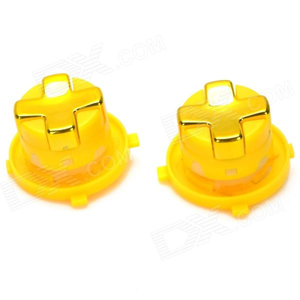 Replacement Direction Button for Wireless Joystick Xbox 360 Slim - Yellow replacement housing case cover for xbox360 wireless controller joystick white