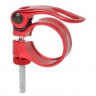 Yongruih Elongated Aluminum Alloy Bicycle Seat Post Clamp - Red (34.9mm Dia)