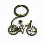 Retro Bicycle Style Zinc Alloy Keychain - Bronze