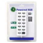 HUB-13 High Speed ​​USB 2.0 13-Port Hub w / Switch - Blanc