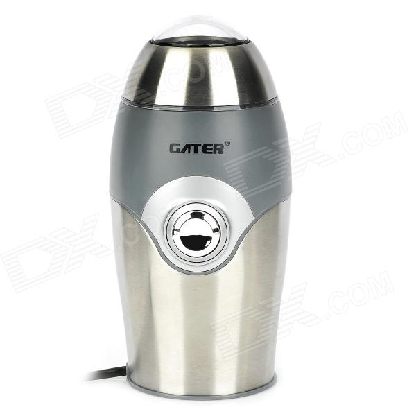 Portable 150W Electronic Coffee Grinder - Silver + Black (AC 230V / EU Plug) black coffee leeds