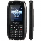 "RugGear RG-128 Ultra-Rugged Waterproof GSM Cellphone w/ 2.2"", Dual Network Standby, FM - Black"