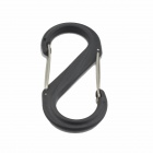 9cm ABS Plastic Versatile Carry Carabiner - Deep Green