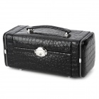 Lengthen PU Leather Jewel Box Case - Black