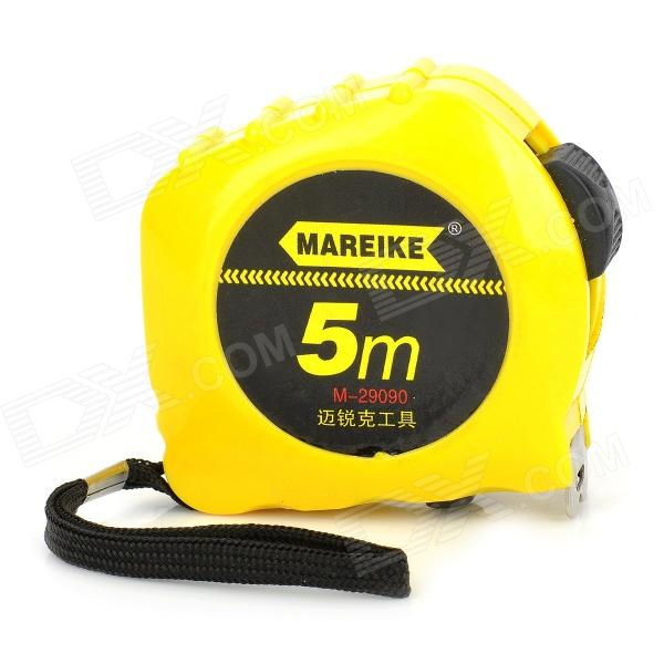 M-29090 Retractable Steel Measure Tape Rule - Yellow + Black zhenwei retractable tape measure beige white 1 5m