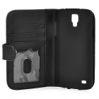 Protective Flip-open PU Leather Case for Samsung i9295 - Black