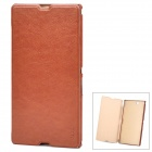 Pudini LX-39LR Protective PU Leather + PC Case for Sony XL39h Xperia Z Ultra - Brown