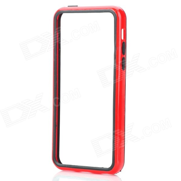 Protective PC + TPU Bumper Case for Iphone 5C - Black + Red spidercase rugged arc curved tpu pc hybrid case for iphone 7 plus 5 5 black