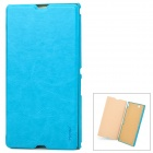 Pudini LX-39LR Protective PU Leather + PC Case for Sony XL39h Xperia Z Ultra - Blue