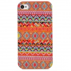 Stylish Geometric Pattern Plastic Back Case for Iphone 4 / 4S - Red