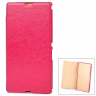 Pudini LX-39LR Protective PU Leather + PC Case for Sony XL39h Xperia Z Ultra - Deep Pink