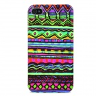 Tribal Ethnic Style Protective Plastic Back Case for Iphone 4 / 4S - Multicolor