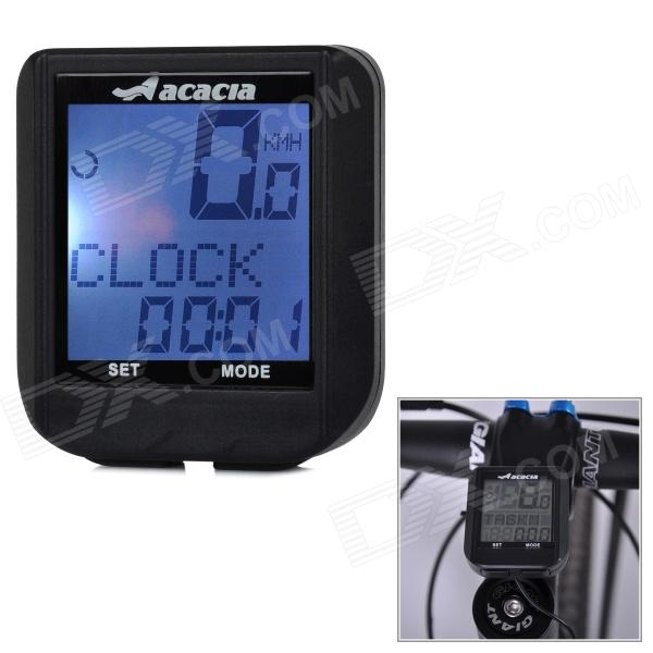 Acacia 076202 1.3 LCD Multifunction Wired Bike Computer - Black (1 x CR2032)