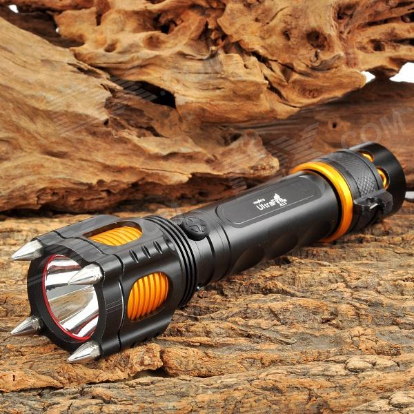 UltraFire A11 600lm 5-Mode White Tactical Flashlight w/ Cree XM-L T6 - Black + Golden (1 x 18650) jetbeam rrt26 white rgb 980lm 5 mode tactical flashlight w cree xm l2 3 led black 1 x 18650
