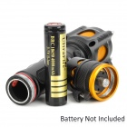 UltraFire A11 600lm 5-Mode White Tactical Flashlight w/ Cree XM-L T6 - Black + Golden (1 x 18650)