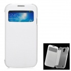 Protective PU Leather + PC Case for Samsung Galaxy S4 i9500 - White + Translucent White