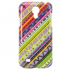 Colorful Twill Pattern Protective Plastic Back Case for Samsung Galaxy S4 Mini i9190 - Multicolor
