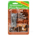 Magnesium Fire Starter Survival Tool with Scraper - Black