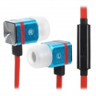 MAIBOSI MA-366 In-Ear-Ohrhörer w / Mikrofon für iPhone / iPod / iPad - Blau + Rot + Silber