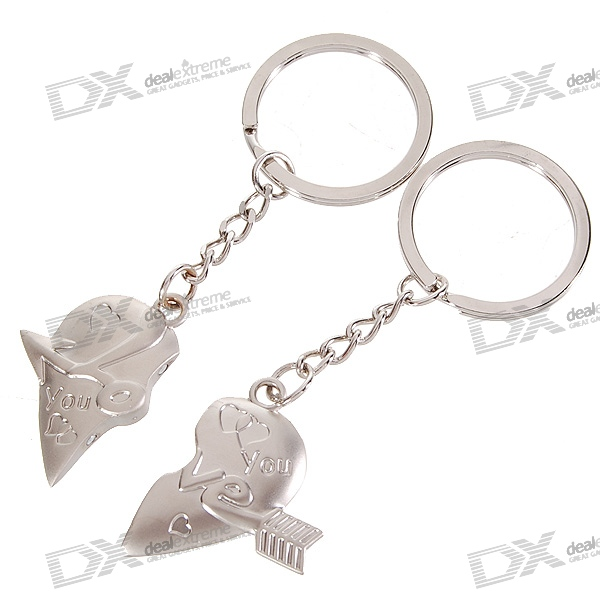 Stainless Lovers keychains (Arrow Across the Heart / 2-Piece Set)