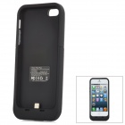 SL2500I5D1 5V 2000mAh Li-ion Polymer Back Case Battery w/ Stand for iPhone 5 - Black