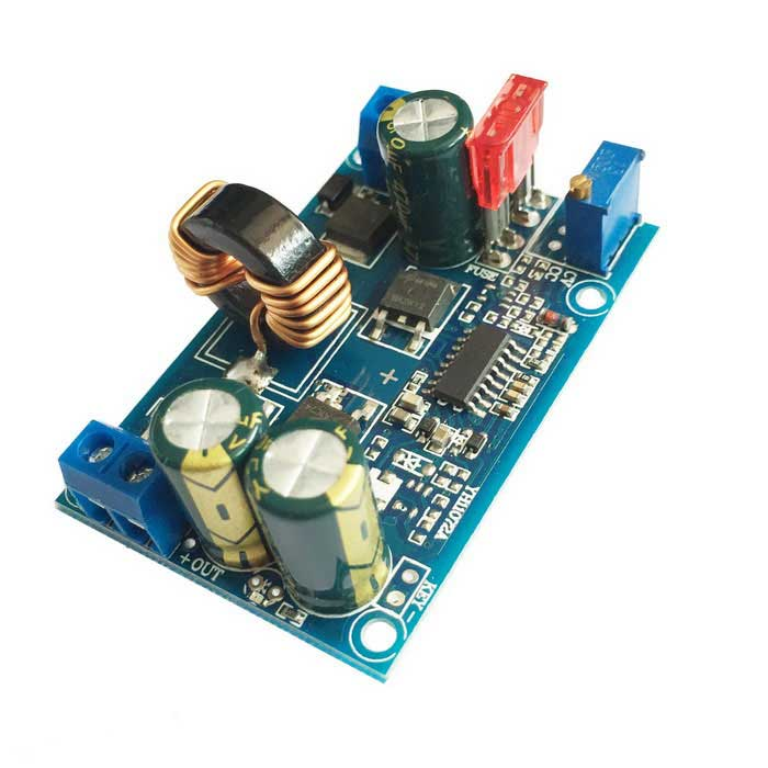 DC 5~32V to DC 1.25~20V 5A Automatic Buck Step Down Module - Blue dc dc automatic step up down boost buck converter module 5 32v to 1 25 20v 5a continuous adjustable output voltage