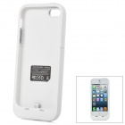 SL2500I5D1 5V 2000mAh Li-ion Polymer Back Case Battery w/ Stand for iPhone 5 - White