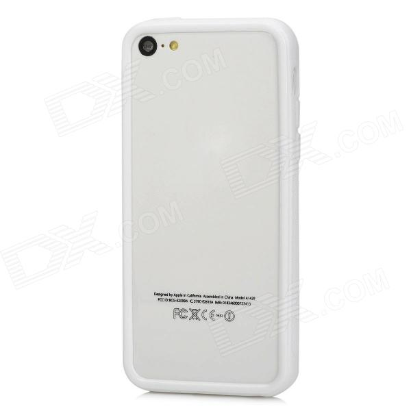 Protective TPU Bumper Frame for Iphone 5C - White