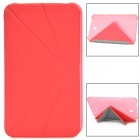 Protective V-folding Stand PU Leather Flip Open Case for Samsung P3200 - Pink
