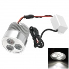 M1309 Universal CREE XR-E-Q5 15W 900lm 6000K 3-LED White Light Motorcycle Safety Light - Silver