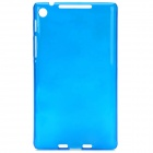 Protective Plastic Back Case for Google Nexus 7 II - Translucent Blue
