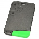 AML030931-1 Replacement 3-Button Remote Smart Key Shell Case for Renault Laguna - Deep Grey + Green