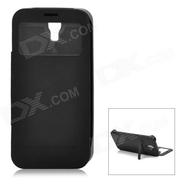 External 4200mAh Power Battery Charger w/ Display Window Case for Samsung Galaxy Mega i9200 - Black