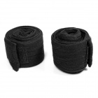 Boxing Sport Adhesive Bandage / Hand Wraps - Schwarz (Paar / 2.5m Länge)
