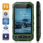 "Somin A8 Three-Proofing Android 4.2.2 Phone w/ 4.0"", GPS, Wi-Fi, FM, Camera - Green + Black"