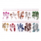10-in-1 DIY Nail Art Decoration Plumages Set - Multicolored