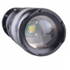 SingFire SF-117C 180lm 3-Mode Zooming LED Flashlight w/ Cree XR-E Q5 - Black + Silver (1 x AA/14500)