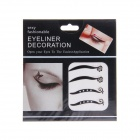 KC-06 Fashionable Charming Cosmetic Double-Eyelid Stickers - Black